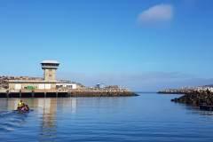 Nazare Hafeneinfahrt